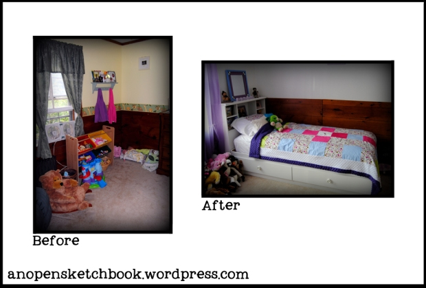 corner area before and after