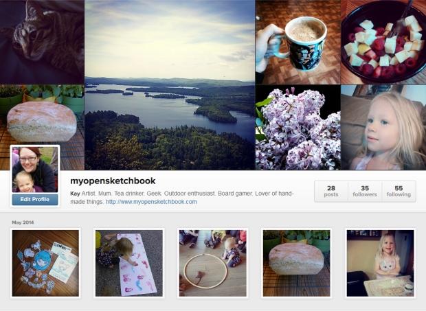 Instagram homepage