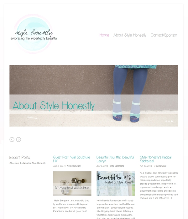 StyleHonestly page