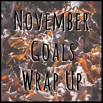 november goals wrap up