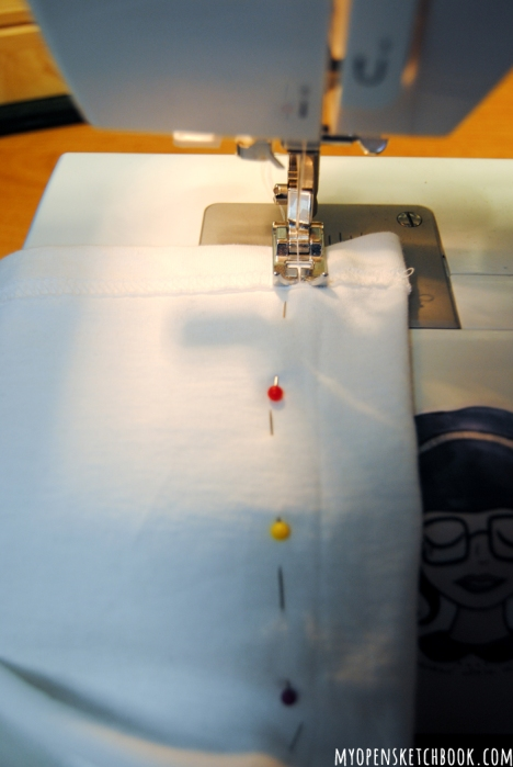 begin sewing